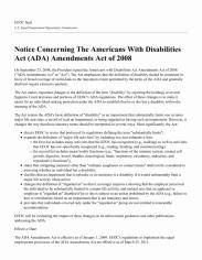 Notice Concerning the Americans With Disabilities Act (ADA) Amendments Act of 2008