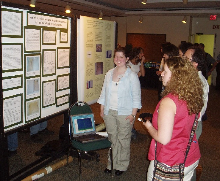 Tammy Kenny presents at a research conference.