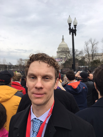 Professor Perry at the Inauguration, January 20, 2017