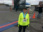 An extremely proud Professor Kanfoush after finishing the Empire State Marathon in Syracuse, NY in October 2014.