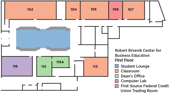 Brvenik Center Floor Plans Utica College