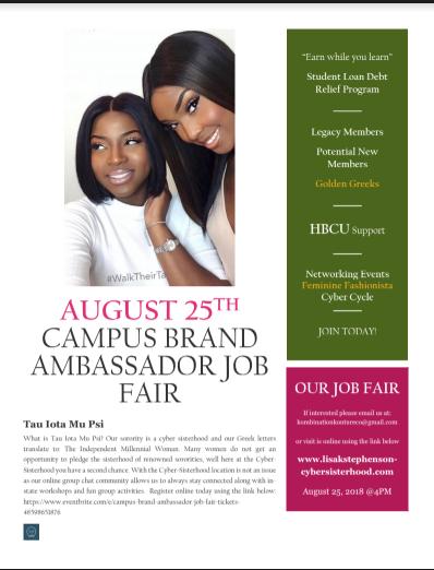 brand ambassador jobs for college students