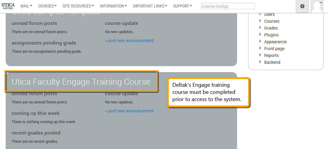 Engage training course