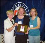 Kathi Kowalewski Dunn Award 2010 - Prof. Emeritus Joan Kay (Kathi's mother and founder of the TR program at Utica College), Courtney Lojewski, Asst. Prof. Kirstin Impicciatore