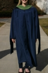 Modeling New Master's Degree Robe