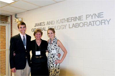 James and Katherine Pyne General Biology Laboratory dedication