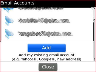 Blackberry Add Mail