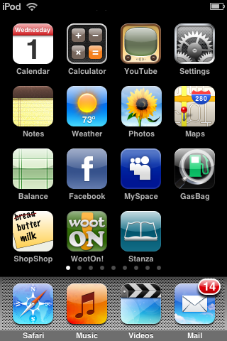 iPod Home Screen