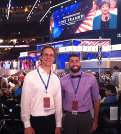 Professor Perry and Paul Joyce at the DNC