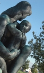 Mother and Child sculpture on the UC campus