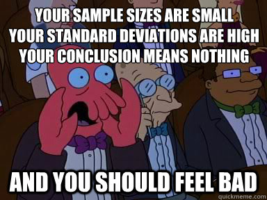 Sample sizes are important