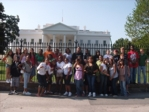 Students in front White House