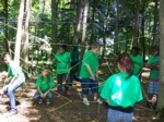Young Scholars doing a ropes course