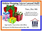 Holiday Shopping Trip Flyer