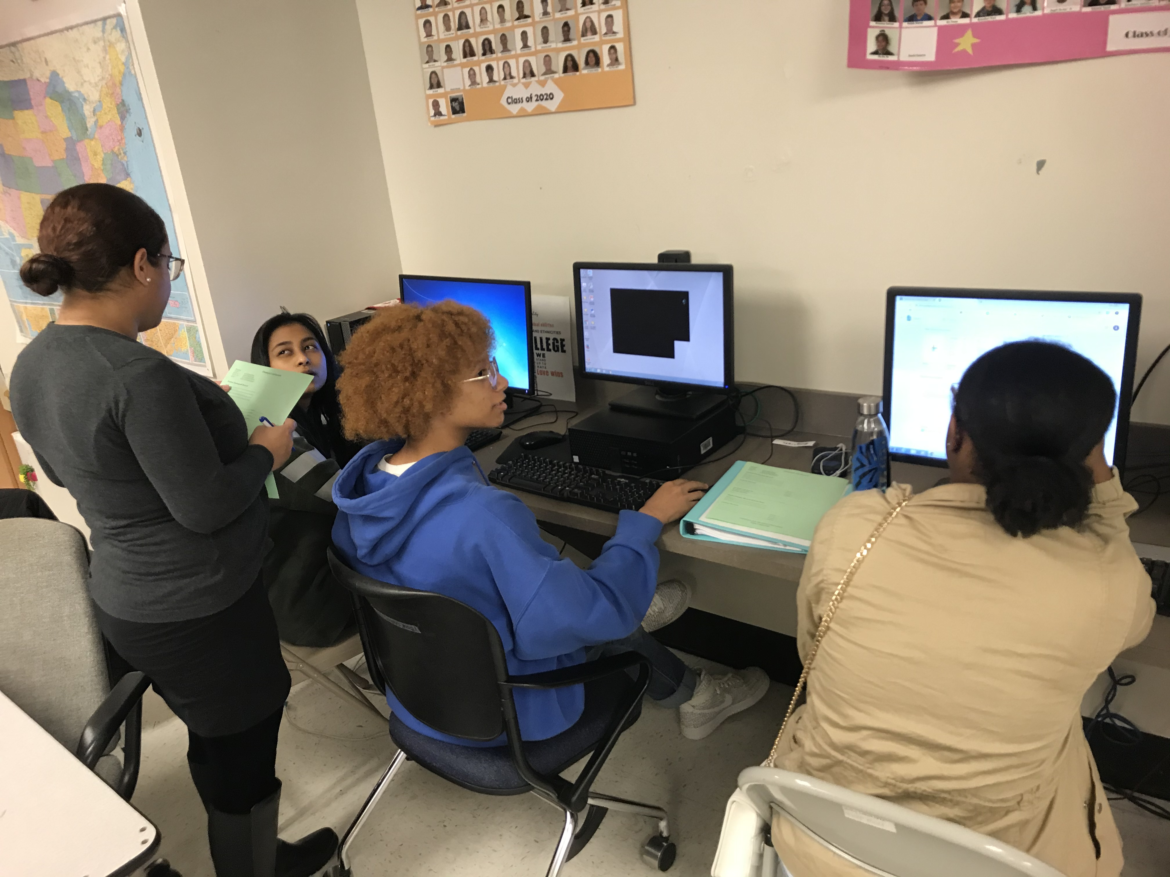On Point For College visited our Young Scholars at Proctor to help them with financial aid applications