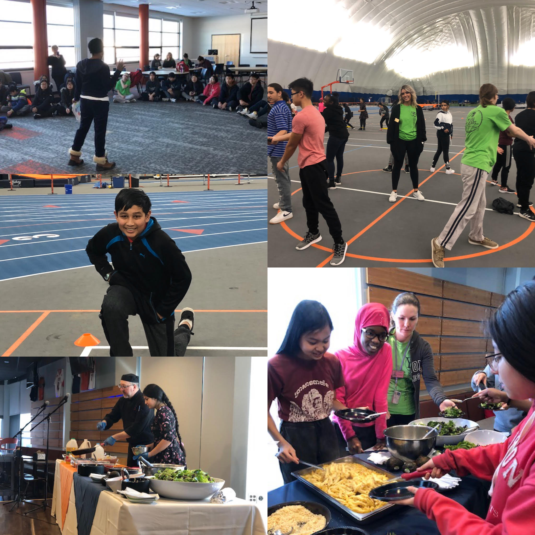 Collage of photos of Young Scholars students at Wellness Day 2020