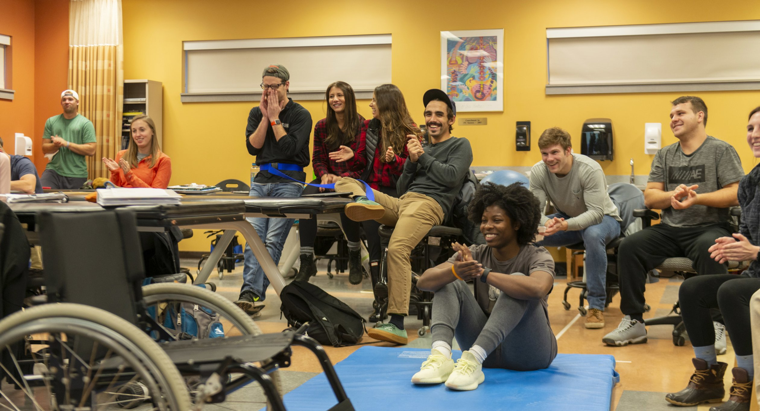 Students in Physical Therapy Lab 0555