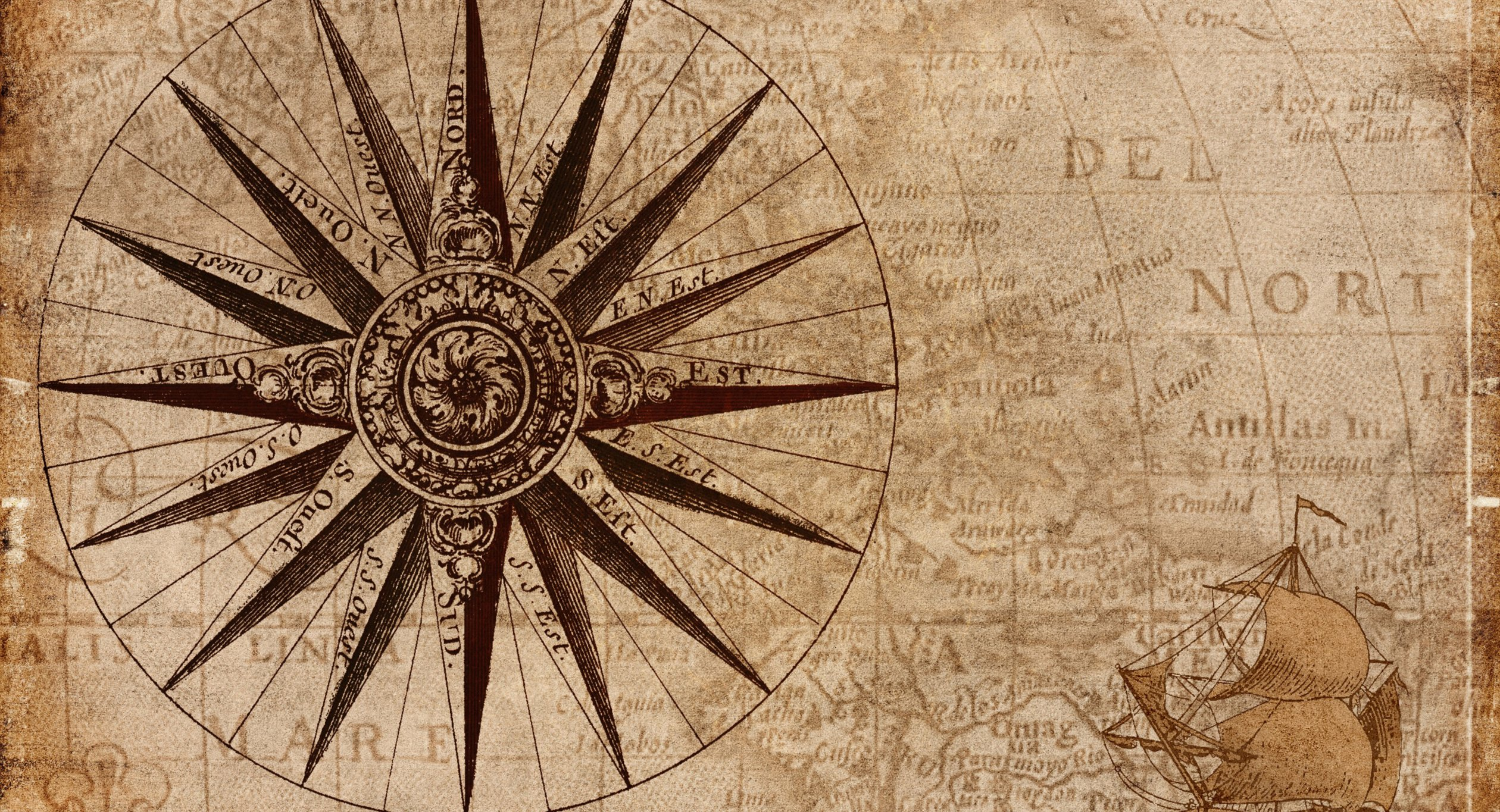Nautical Map Compass History generic