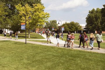 Utica College campus, Academic quad