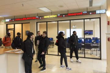 Business stock Ticker at Downtown Center