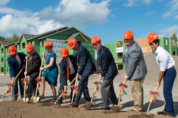 Pioneer Village groundbreaking