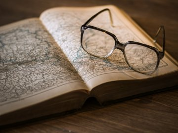 Book Map Glasses History generic
