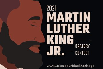 Illustrated graphic for MLK 2021 Oratory contest.
