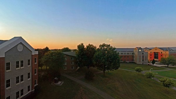 Dorm pano sunset