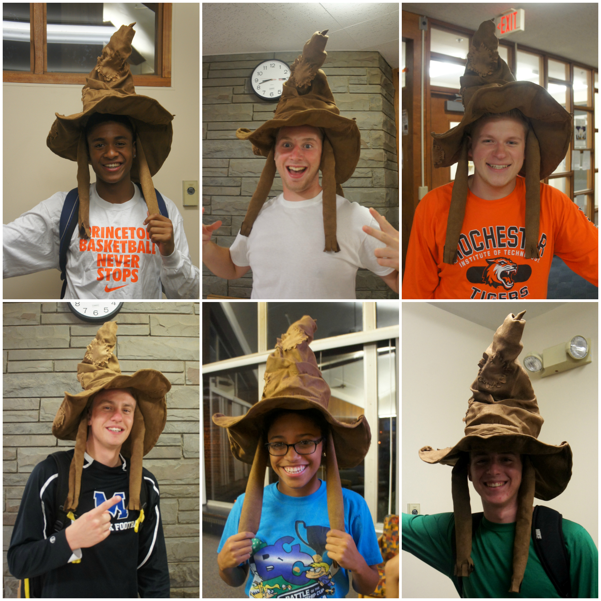 Some of the first year students having a little Harry Potter fun!