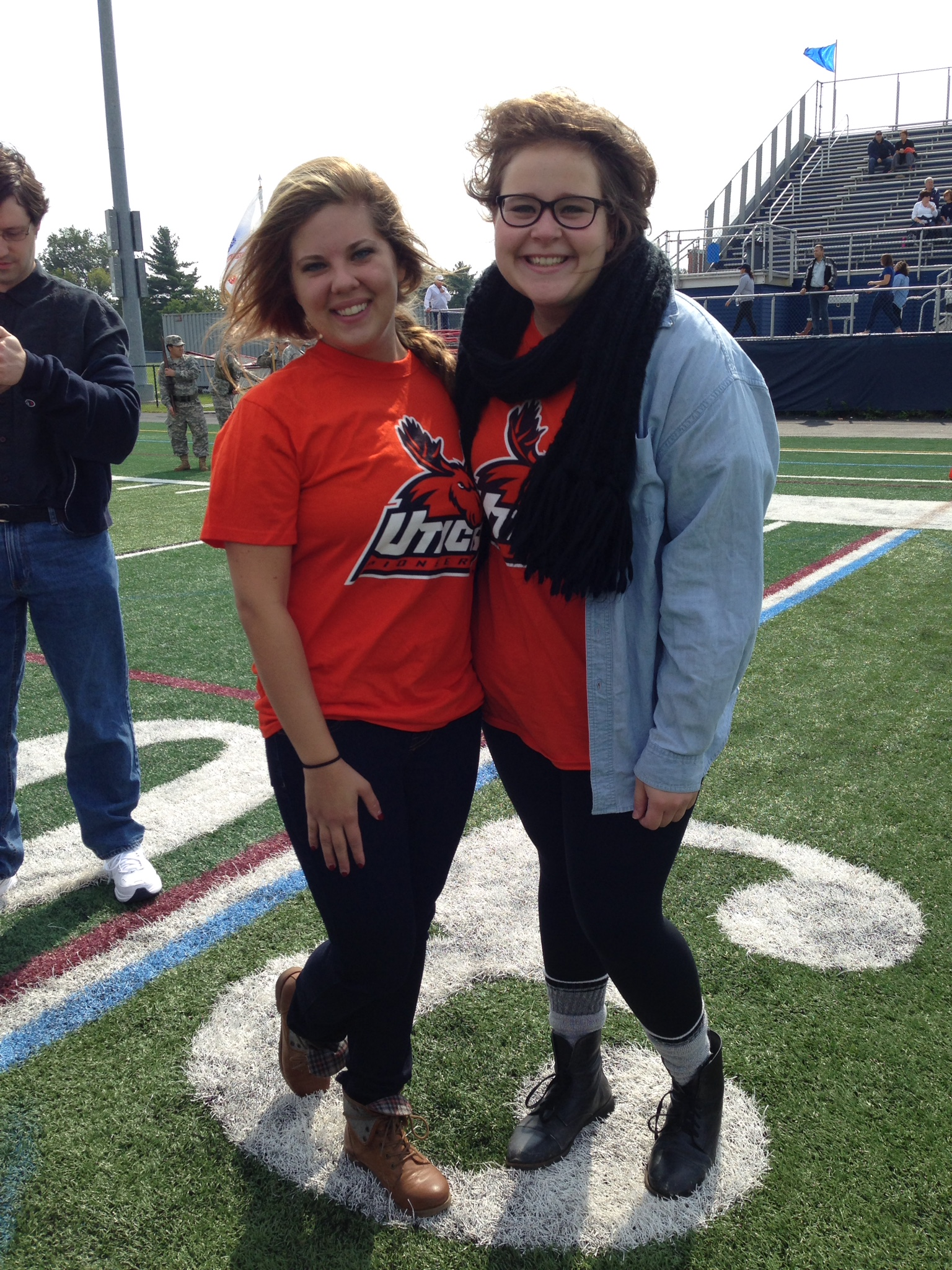 (My friend Elaine and I at the  football game this weekend, reppin' UC swag.)
