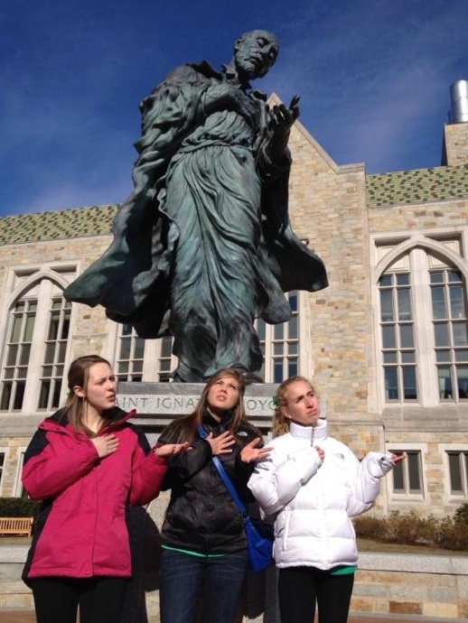 Melissa, Me, and Whitney at Boston College last spring
