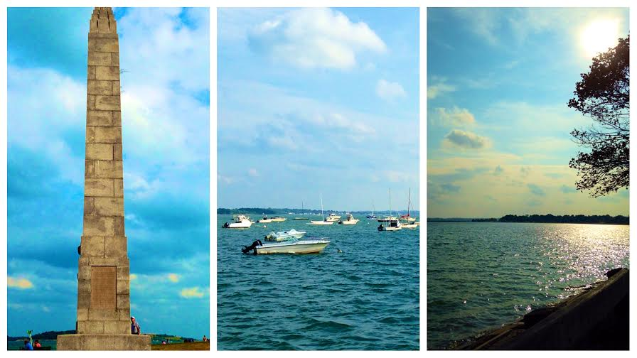 Castle Island & the beautiful Boston Harbor.