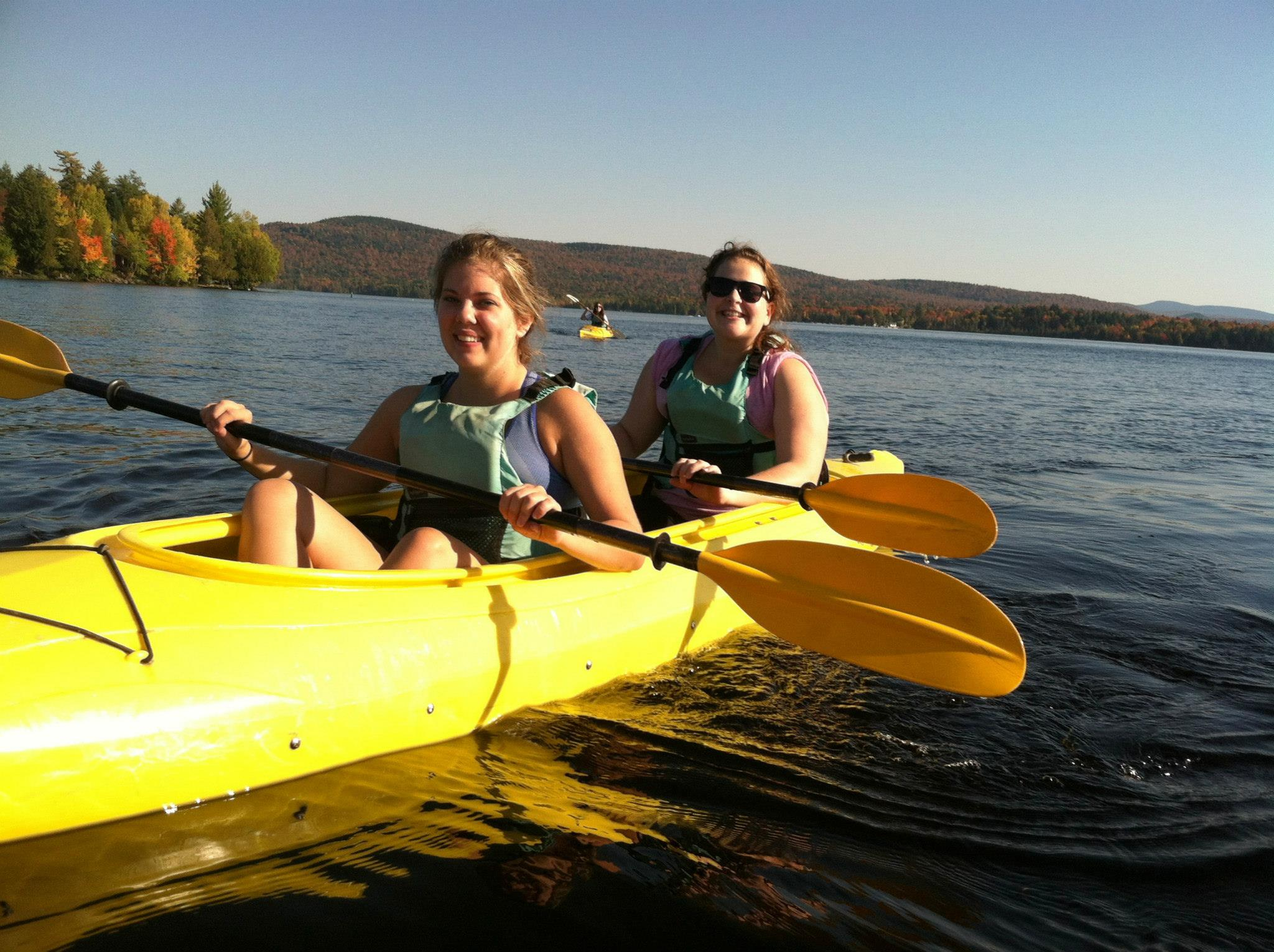 (My friend, Elaine, and I loved kayaking with everyone else.)