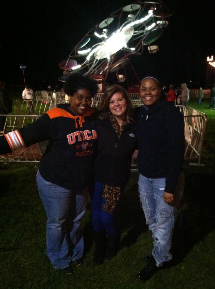 At the Homecoming Carnival my sophomore year, October 2012, with Karita and Justine