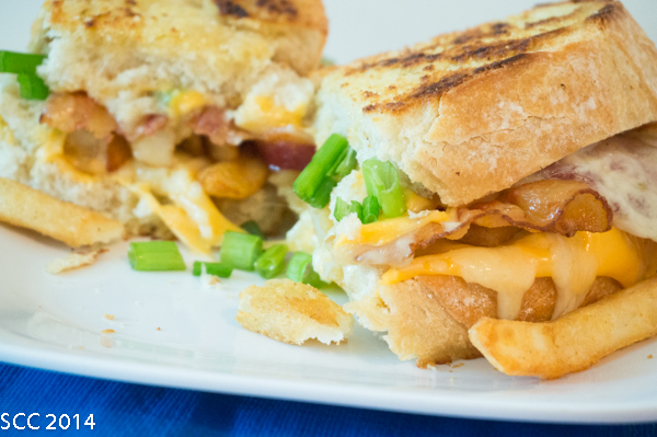 A Loaded Cheese Fries Grilled Cheese from my blog.