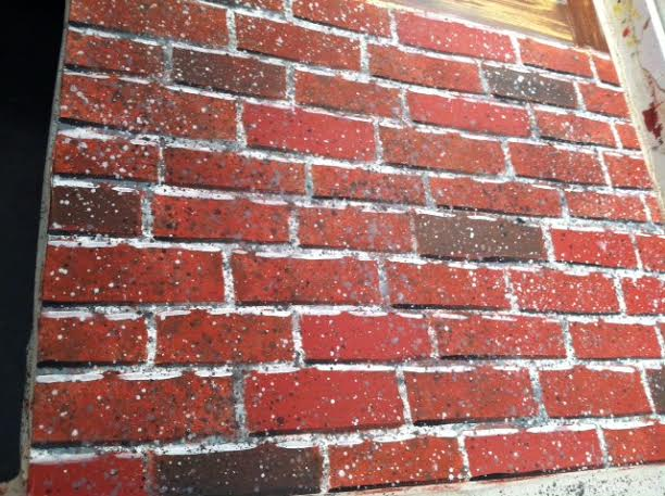 I love how my brick wall turned out! 10+ hrs of hard work!
