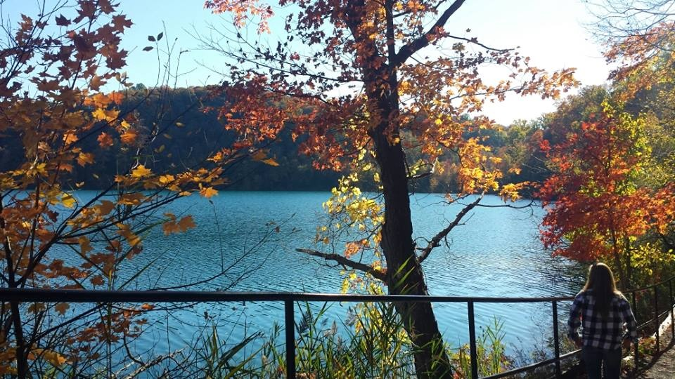 My boyfriend, Ryan, took this awesome shot at Green Lakes last weekend. Check out how beautiful the leaves are!