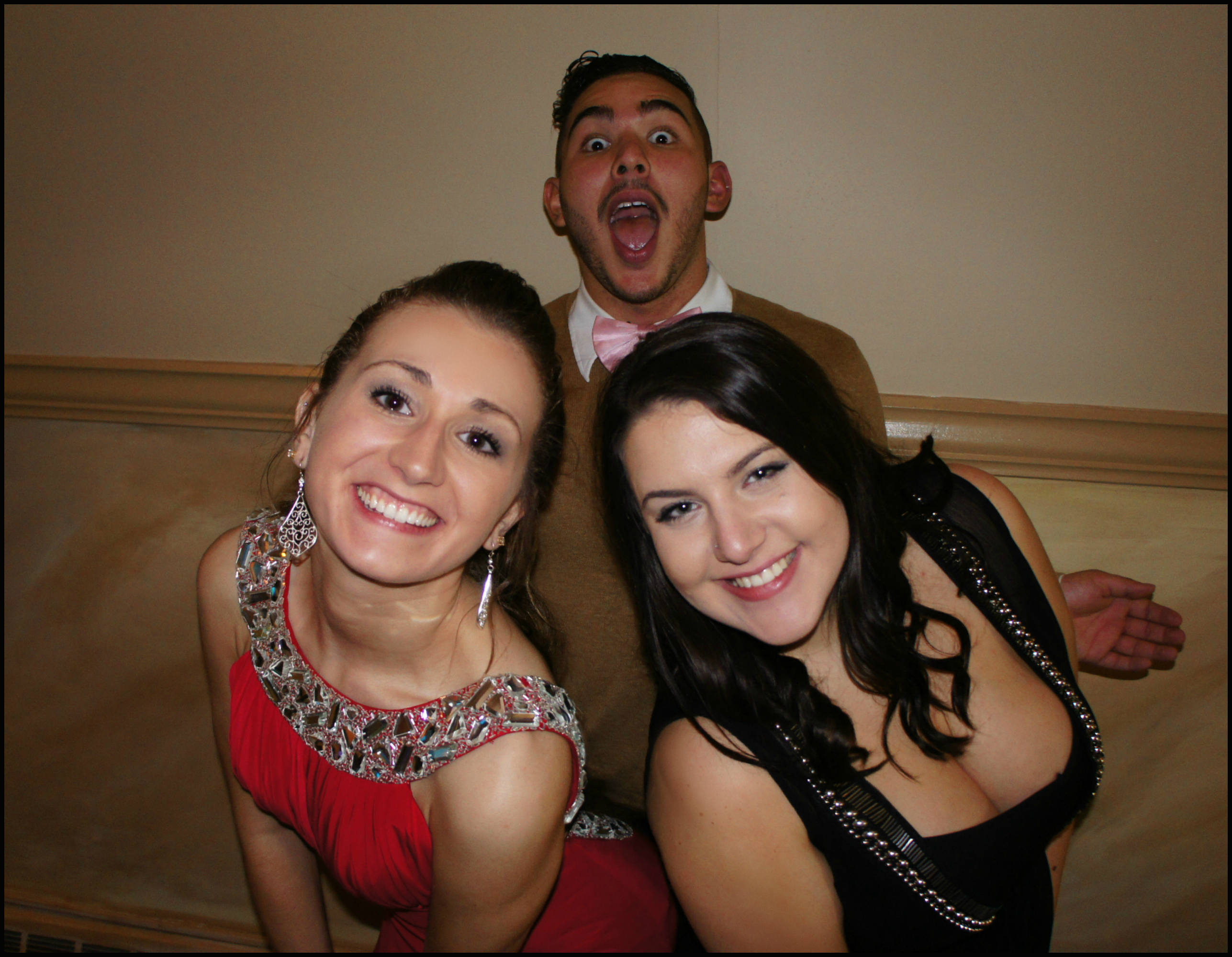 Being silly with George Archundia & Angela Malaspina!