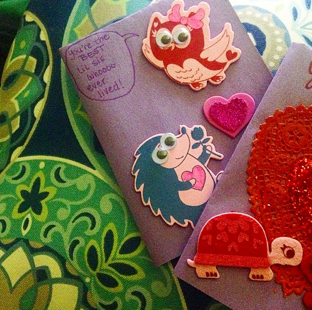 Here is a glimpse of the Valentines I crafted!