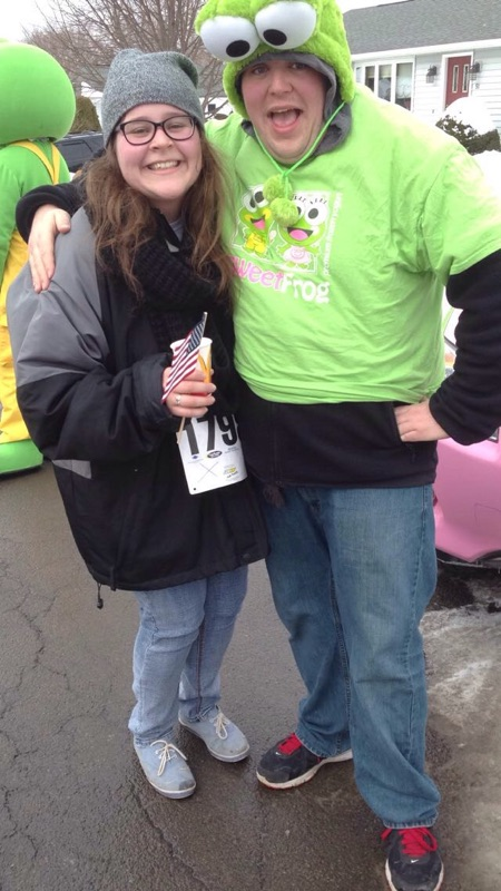 (Sweet Frog was just one of the many businesses supporting walkers along the way!)