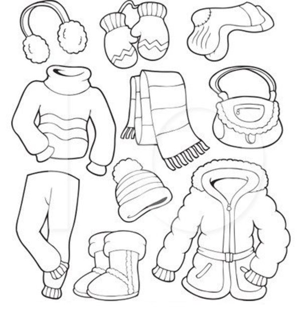 Summer clothes coloring page imagui for Spring clothes coloring pages