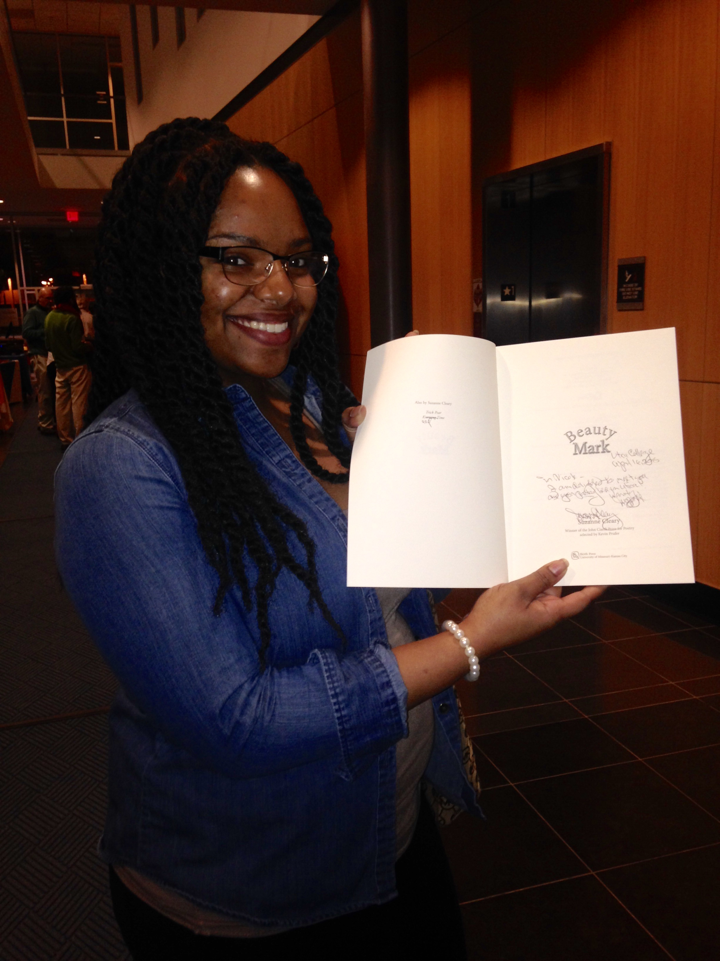 Nicole and her autographed book!