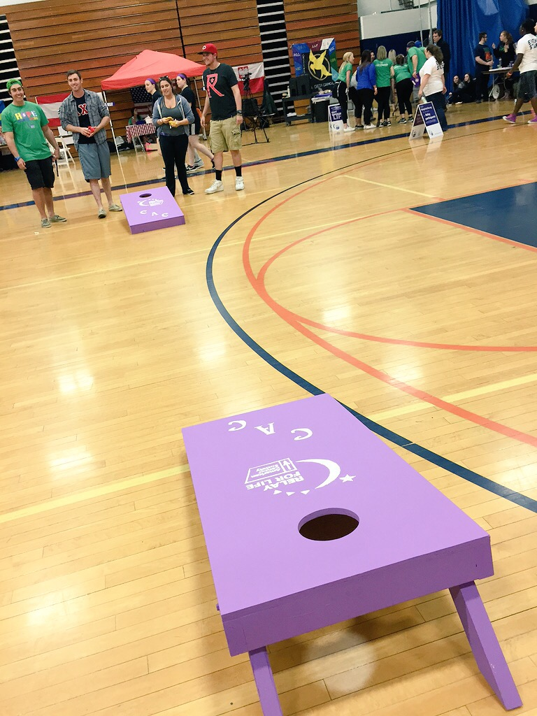 A little bit of corn hole fun!