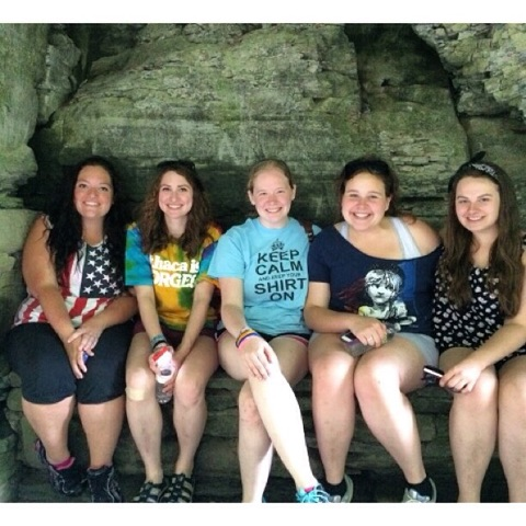 (My friends and I stopped for a group pic during a hike last summer!)