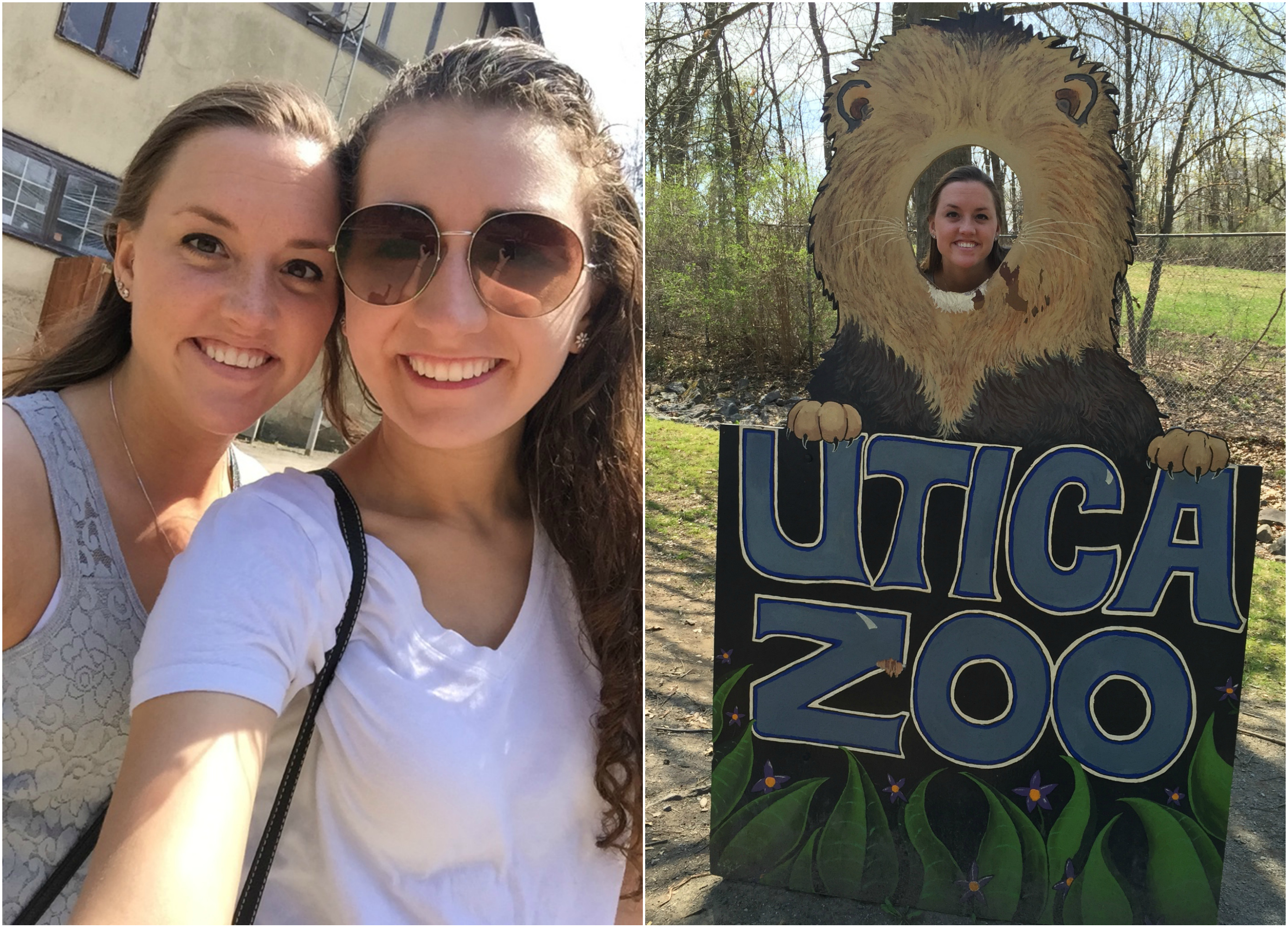 Being silly at the zoo with Alexia Bigart!
