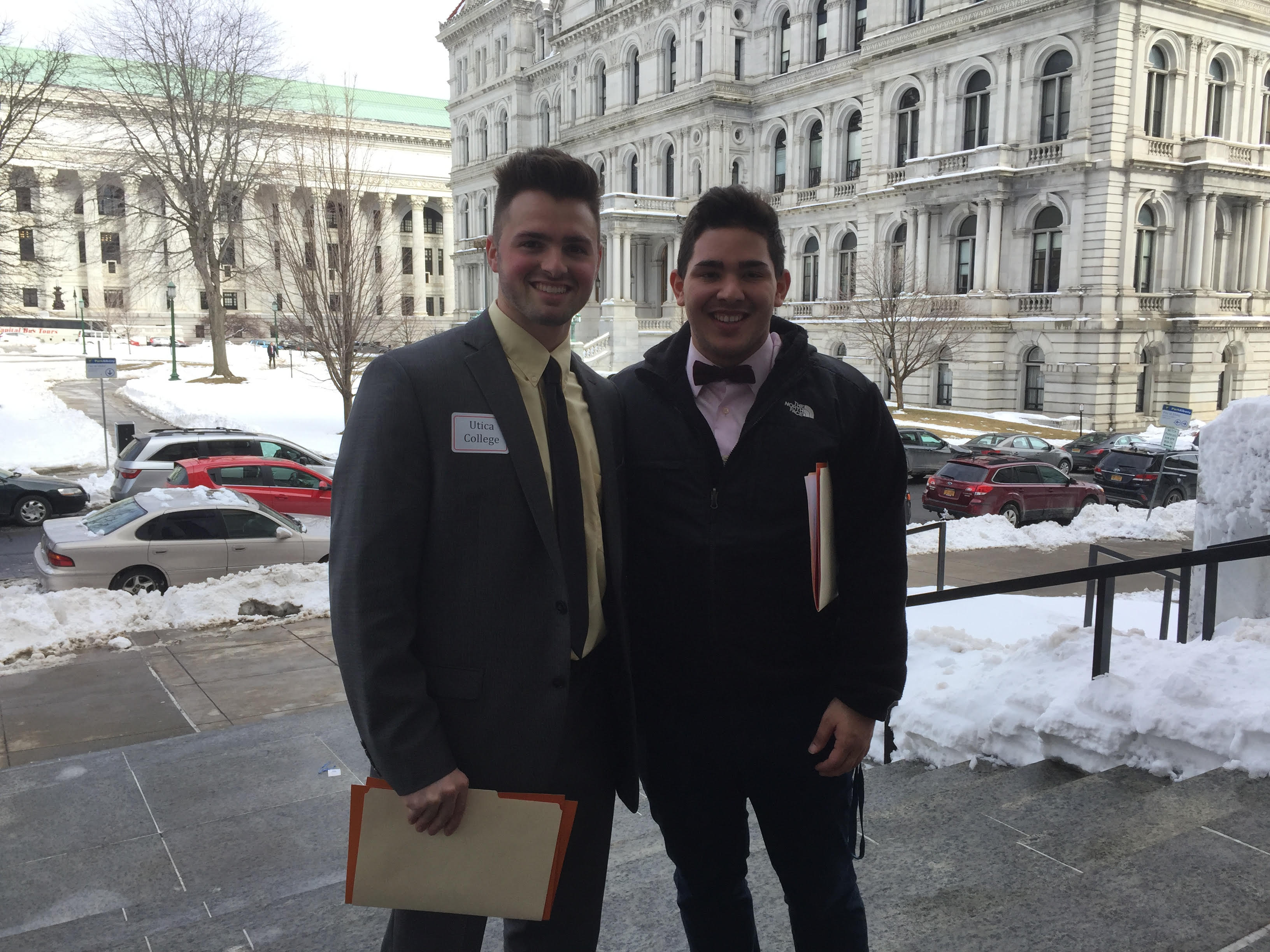 Marcel, right, with fellow student advocate George Archundia '17