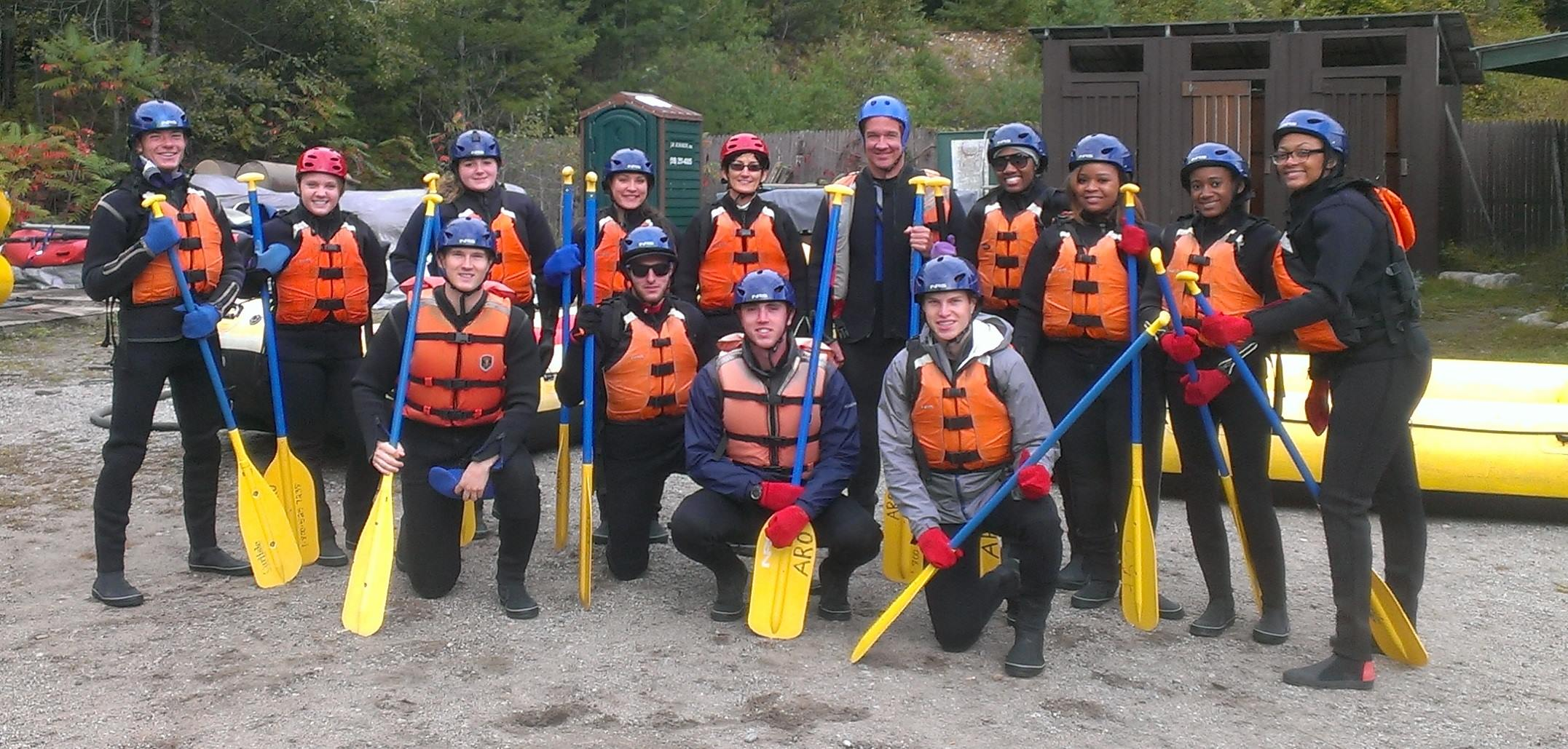 Whitewater rafting with UBalance